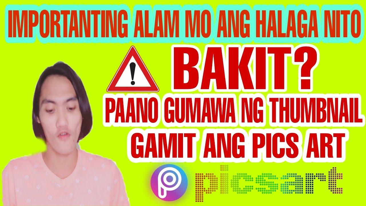 PAANO MAG EDIT NG THUMBNAIL  GAMIT ANG PICSART    FREE AT MADALI   