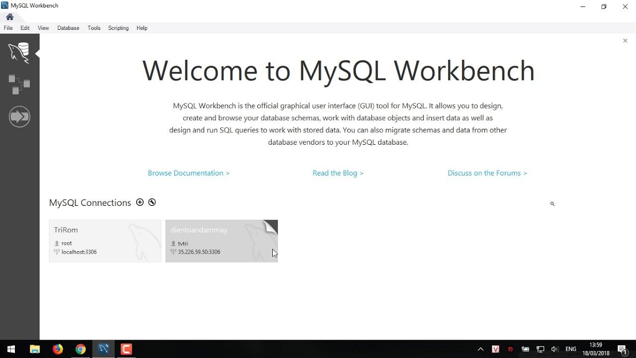 Connect mysql Workbench to google cloud SQL