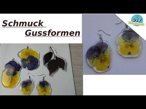 Schmuck aus Gießharz ohne Formen mit Echte Stiefmütterchen anfertigen. / DIY Eigen Kreationen
