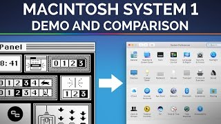 Macintosh System 1 (1984) - Demo and Comparison