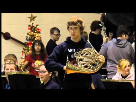 Ponca City High School Band - Christmas Songs at Union Elementary