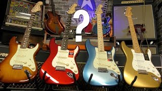 Fender American Strats - What's the difference? Video