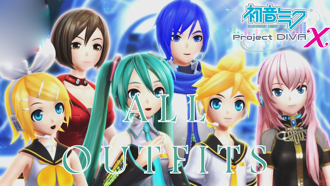 Hatsune Miku: Project Diva X - All Characters Outfit ...
