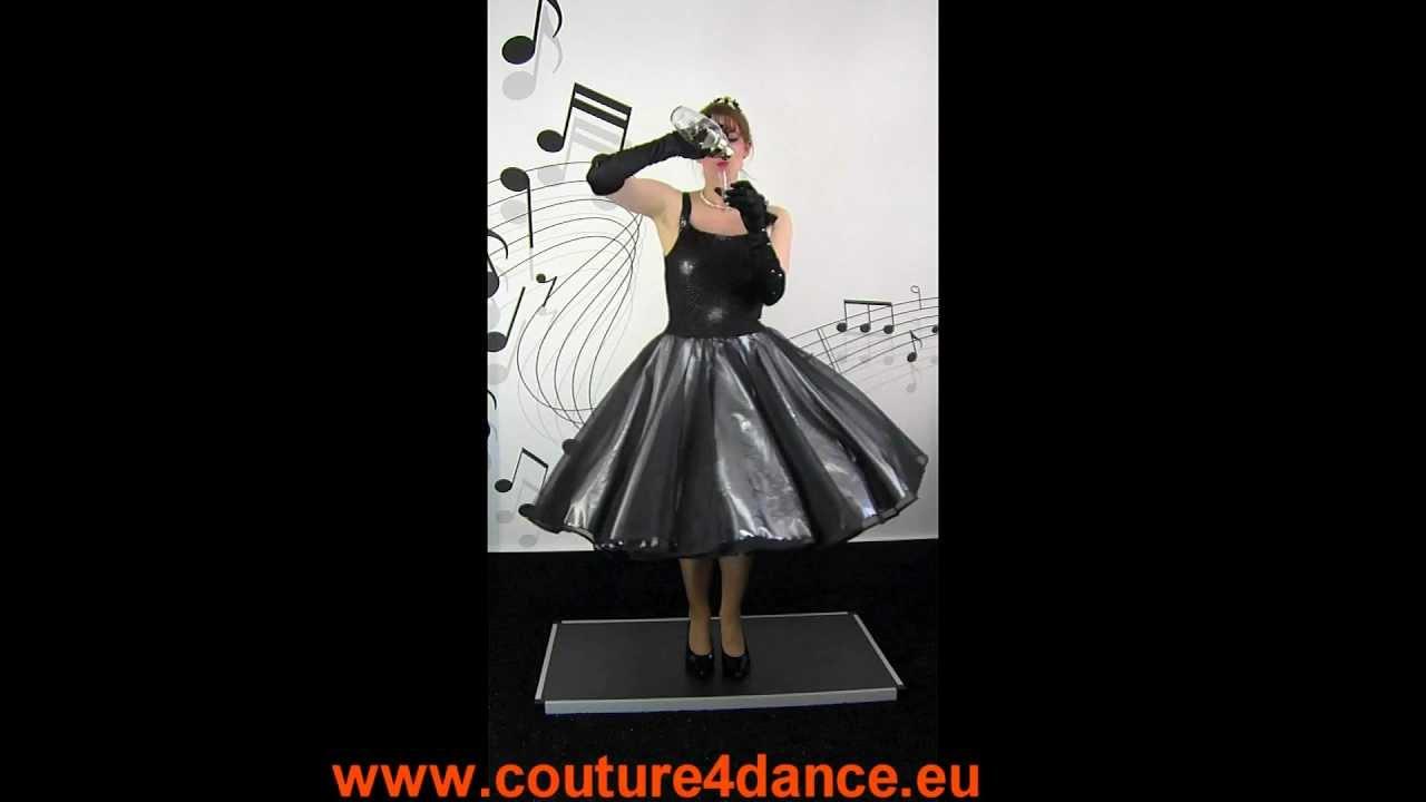 Tanzkleid / Petticoatdress  Modell Antalya + Petticoat Cinderella, Schwarz