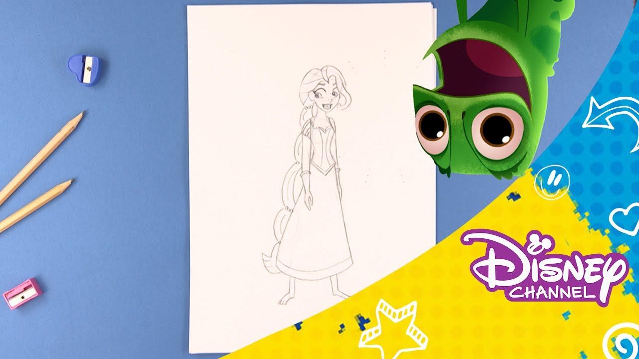 To på Flugt | Lær at tegne: Rapunzel - Disney Channel Danmark