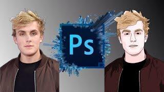 Jake Paul - Cartoon Speedart (Logan Paul's Brother) | Photoshop CS6