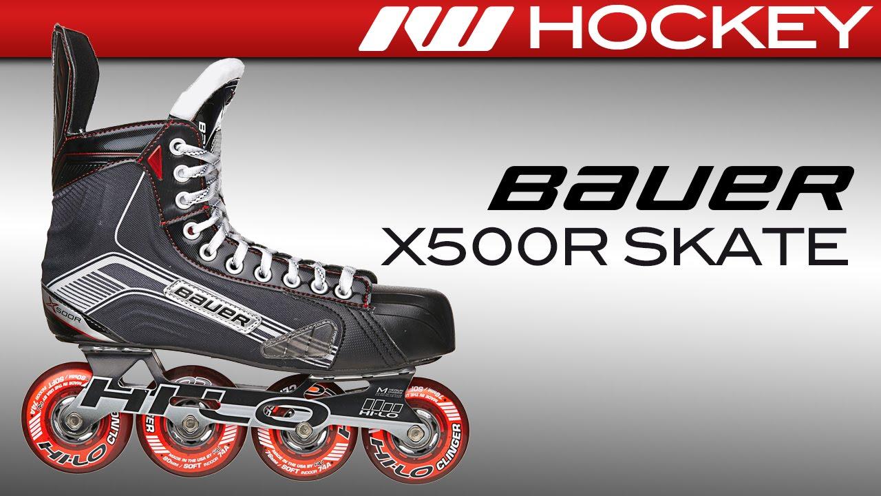 cdb2512ffa1 Bauer Vapor X500R Roller Hockey Skate Review - YouTube