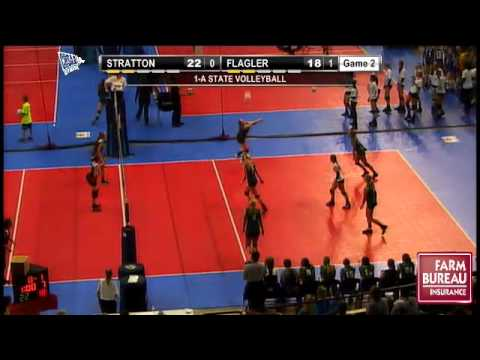 Class 1A State Volleyball Pool Play, Match #7:  Stratton Vs. Flagler