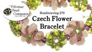 Make A Czech Flower Bracelet