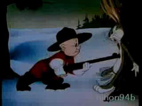 Bugs Bunny and Elmer Fudd battle-cartoon(Un-censored)