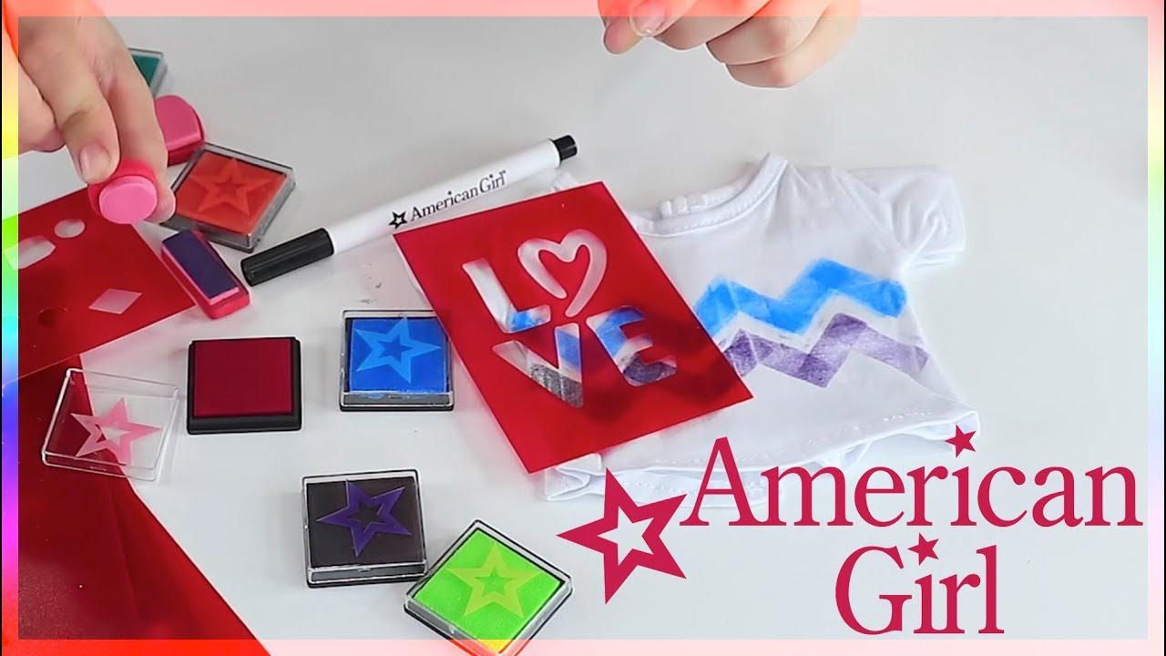 Shirt design kit - American Girl Stamping T Shirt Design Kit