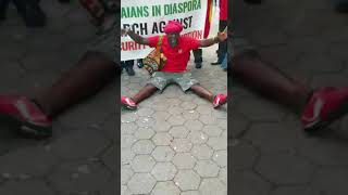 Ghanaians demonstrate against President Nana Akufo-Addo in New York