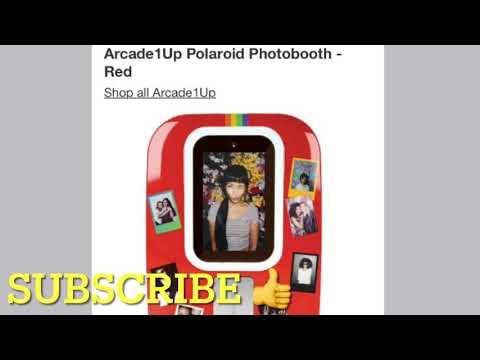 New Arcade1Up Polaroid PhotoBooth Price Arcade 1Up Photo Booth from rarecoolitems