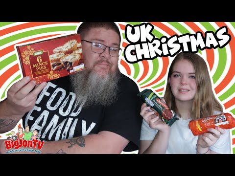 Americans Try British Christmas Treats    Foreign Food Friday