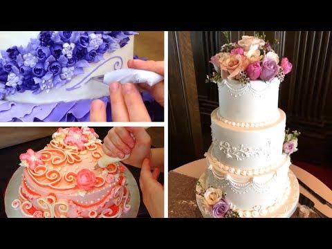 top-5-wedding-cake-tutorials- -cake-decorating-compilation
