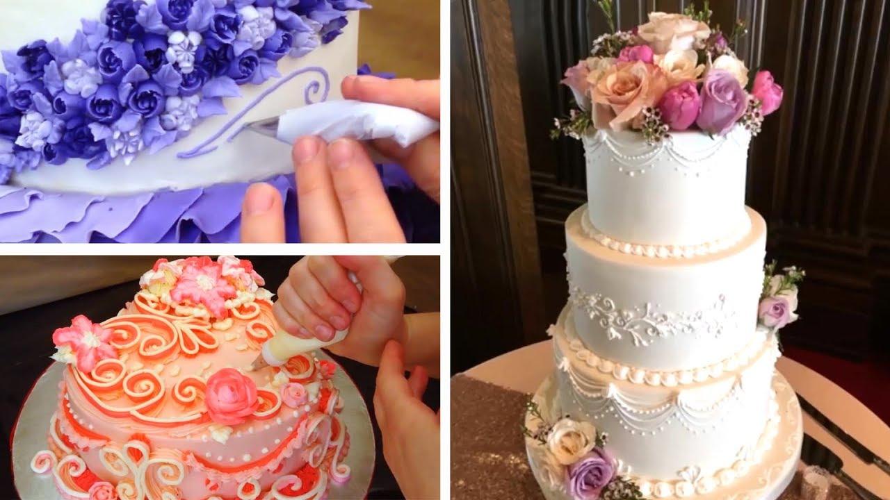 Top 5 Wedding Cake Tutorials Cake Decorating Compilation Youtube