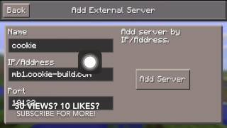 How to add a server in Minecraft PE!(over a year later* GUYS! This video is out of date and is trash. Stop the hate, I know its cringy and all but yall need to chillllllll. Ill make a new one if this gets 3k ..., 2015-08-30T02:53:43.000Z)