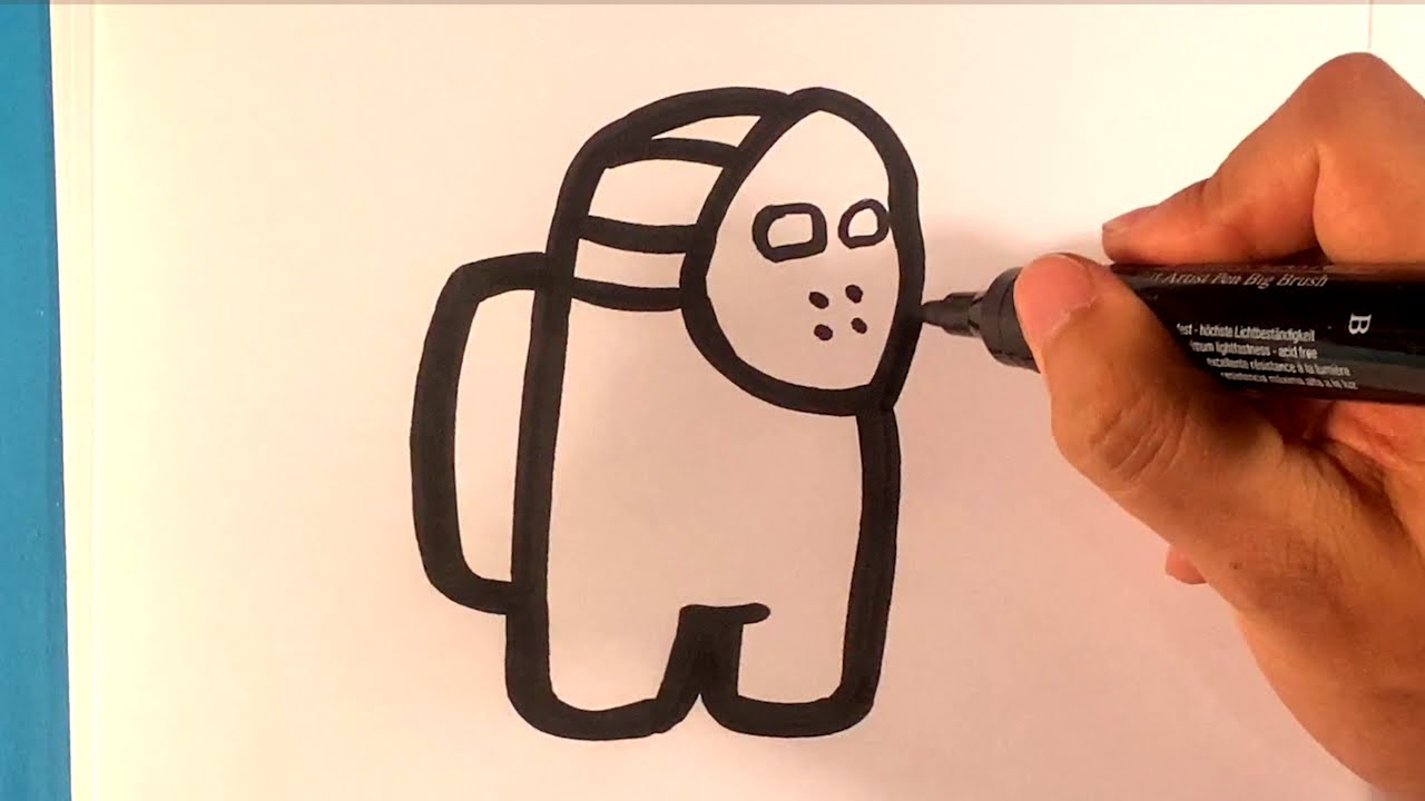 How To Draw Among Us Jason Mask Easy Pictures To Draw