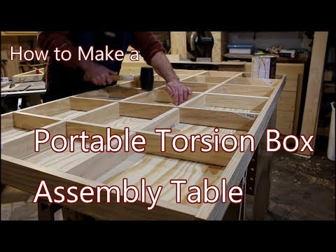 How to Make a Portable Torsion Box Assembly Table