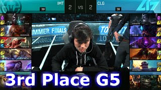 Immortals vs CLG | Game 5 for 3rd Place S6 NA LCS Summer 2016 PlayOffs | IMT vs CLG G5 1080p