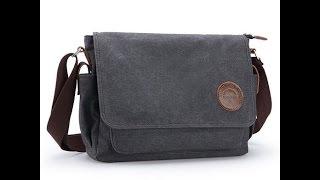 Ibagbar Muzee Vintage Canvas Laptop Messenger Bag Review