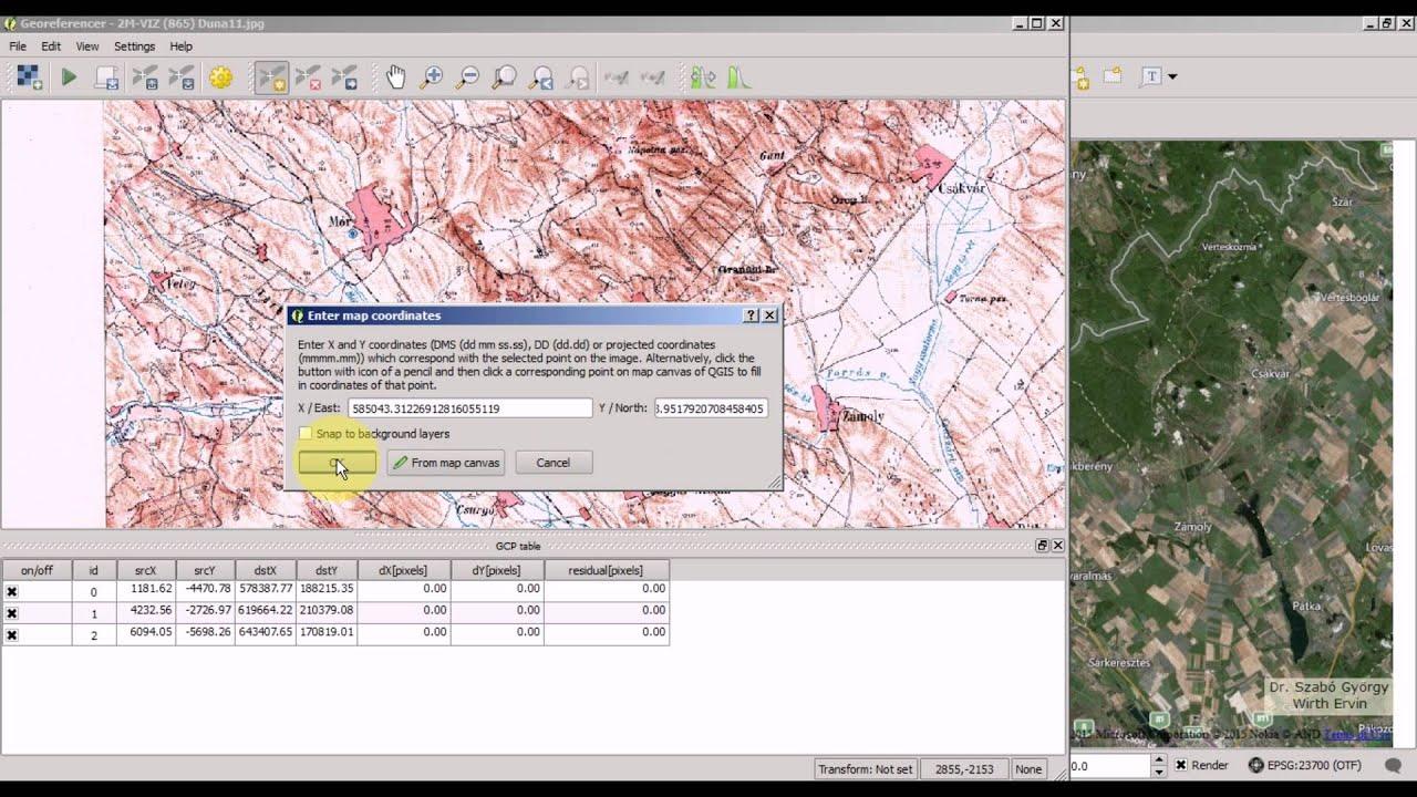 QGIS Tutorial 4/12: Raster georeferencing