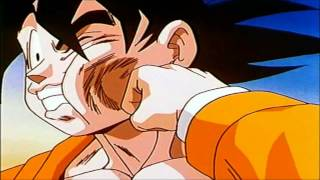 Krillin gibt Son Goku aufd Fress