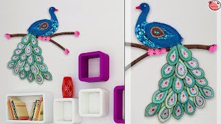 Wall Art Peacock Using Waste Materials || Best Out of Waste Idea | DIY Crafts Idea | Handmade Things