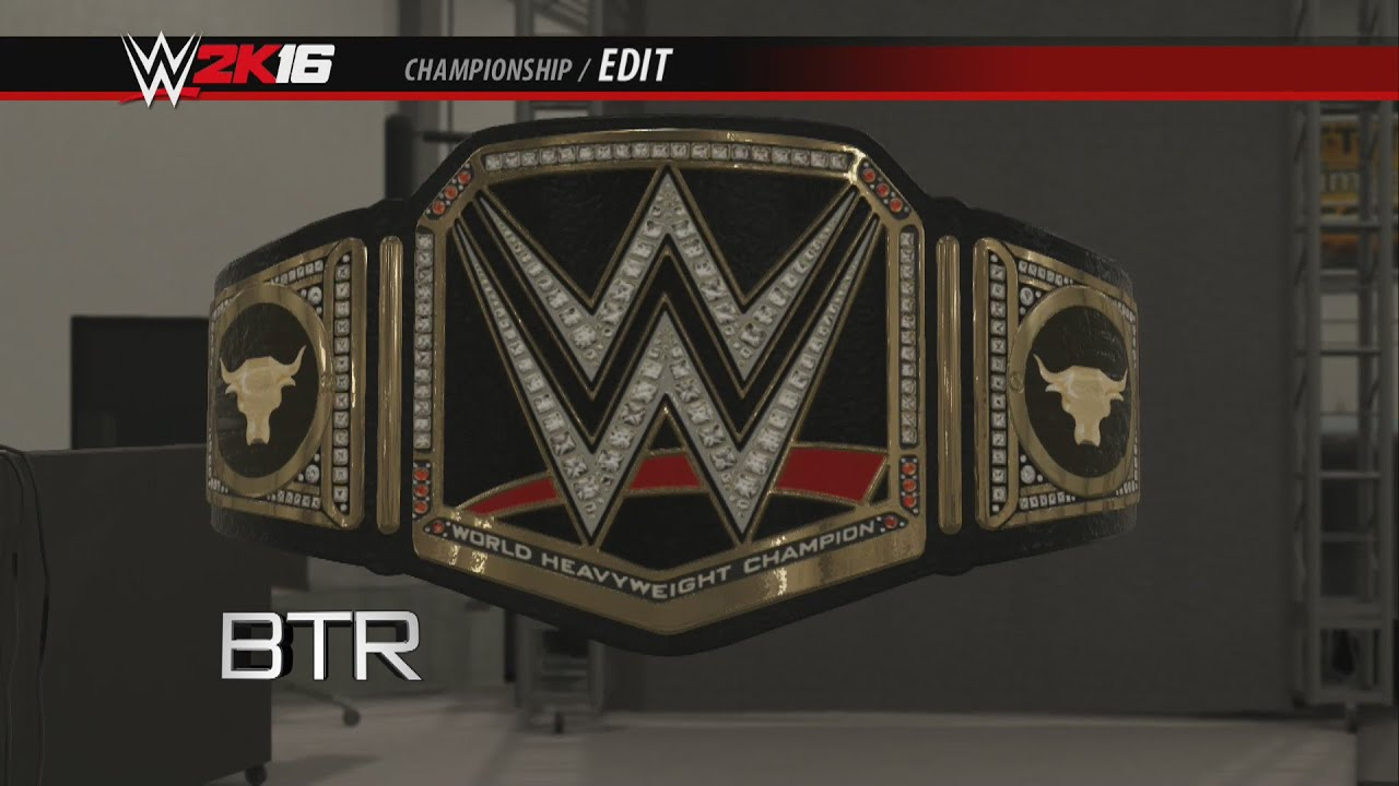 WWE 2K16 Creations Custom Championship The Rock Side ...