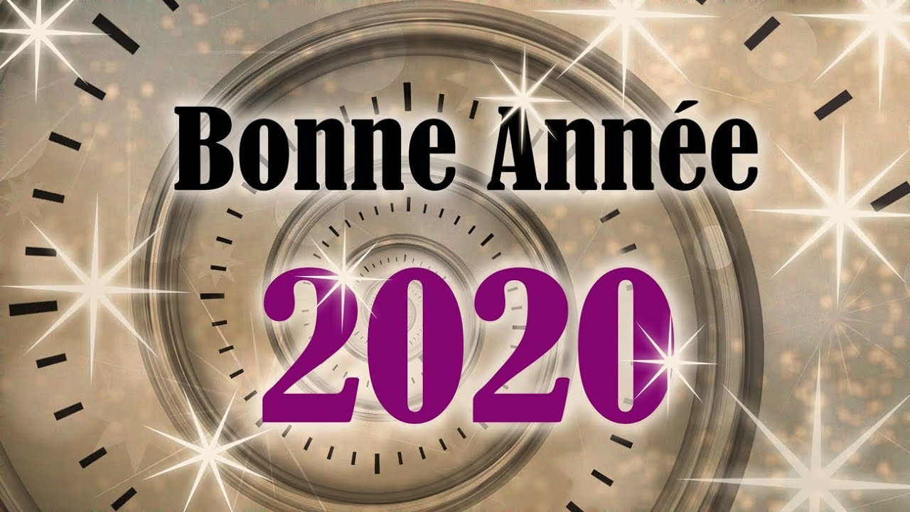 carte virtuelle voeux 2020 BONNE ANNÉE 2020   Carte virtuelle de vœux 2020   Horloge   YouTube