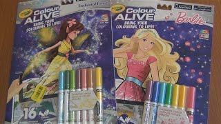 Живая ʕ•ᴥ•ʔ 3D раскраска Барби Crayola Color Alive !!!