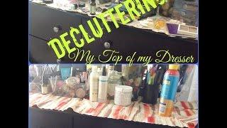 How I declutter the top of my dresser.