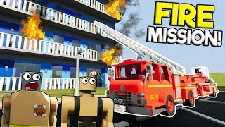 LEGO FIRE FIGHTER RESCUE MISSION & ROLEPLAY! - Brick Rigs Gameplay Roleplay - Lego Fire Truck