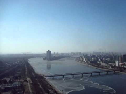 View of Pyongyang from Juche tower