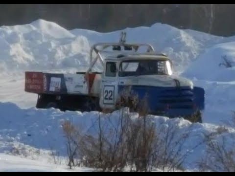 Motorsport - video Autocross - Winter drift LKW video doku 2017