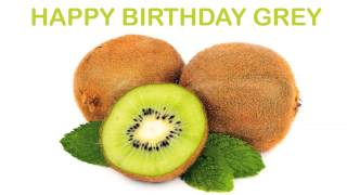 Grey   Fruits & Frutas - Happy Birthday