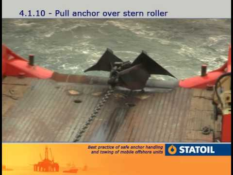 5. Anchor Handling - Anchor on the roller & on deck