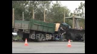 Столкновение ГАЗ-53 и КАМАЗ в Архангельске