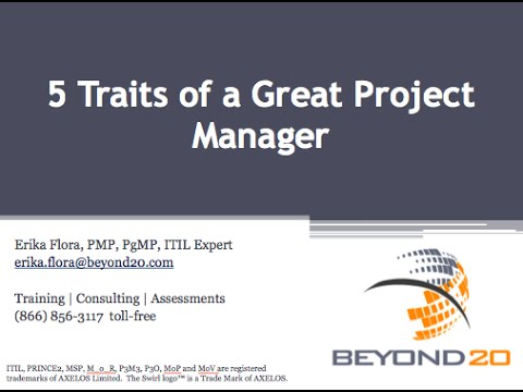 5 Traits of a Great Project Manager