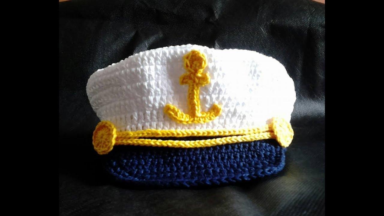 32dabfc80b9bd Passo a Passo - Como fazer Quepe Marinheiro de Crochê( Parte 1 ...