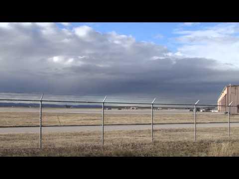 B1B take off at Ellsworth AFB