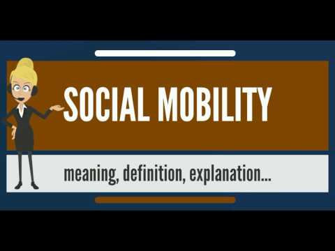 What is SOCIAL MOBILITY? What does SOCIAL MOBILITY mean? SOCIAL MOBILITY meaning & explanation