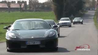 Ferrari Days France, 33 supercars in 2 min !!! Lovely sound ! Scuderia, 16M, etc..mpg