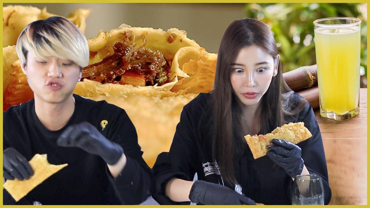 뭐야 이 브라질시장 음식은?(빠스텔)
