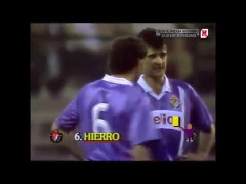 Fernando Hierro en el Valladolid. Años 1987-1989