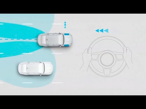Jaguar XF 2018 | Blind Spot Assist and Reverse Traffic Detection