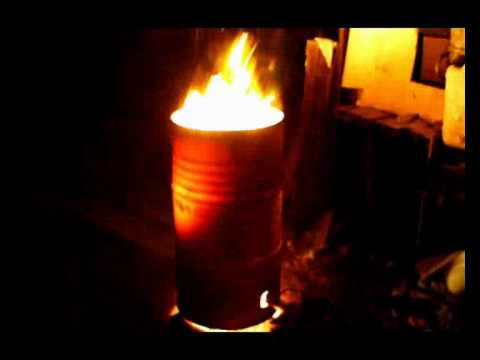 Outdoor Patio Heater Running On Used Vegetable Oil Youtube