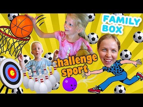 НАСТОЛЬНЫЙ СПОРТ ЧЕЛЛЕНДЖ Веселая семейная игра от FAMILY BOX Кто выиграет в этой БИТВЕ За Кадром
