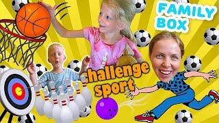 НАСТОЛЬНЫЙ СПОРТ ЧЕЛЛЕНДЖ Веселая семейная игра от FAM LY BOX Кто выиграет в этой БИТВЕ За Кадром