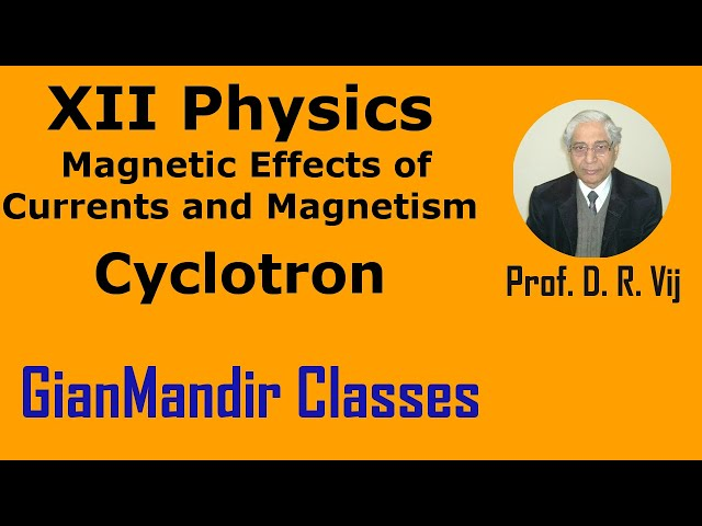 XII Physics | Magnetic Effects of Currents and Magnetism | Cyclotron Himanshu Sir
